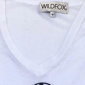 Wildfox Tops - Wildfox Secret Key Graphic Tee White Vneck TShirt